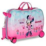 Trolley Cavalcabile Minnie Heart Bambina, 50 Cm, 34 Litri, Multicolor