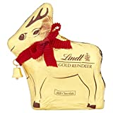 Lindt Gold Reindeer Milk Chocolate, 100 g, Pack of 16