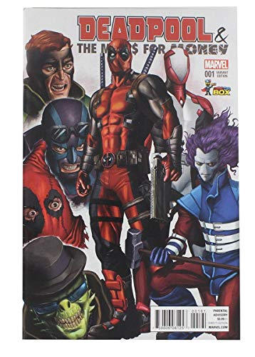 toynk Marvel Deadpool Mercs for Money #001 Comic Con Box 2016 Exclusive Color Cover