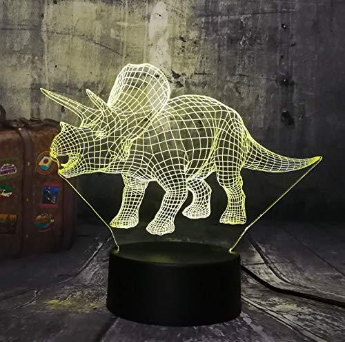 Luz De La Noche 3D Nuevo Dinosaur Jurassic World Triceratops...