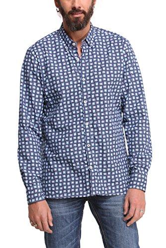 Desigual -  Camicia Casual  - Con bottoni  - Uomo blu L
