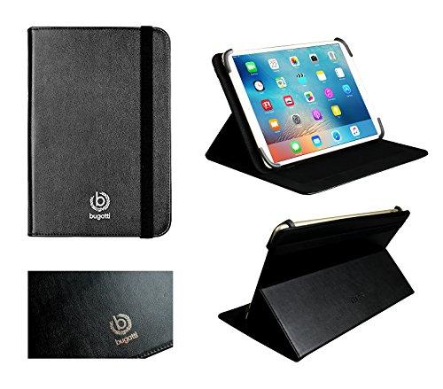Bugatti Universal 9 - 10 Zoll Schwarz Folio Brieftasche Case Cover Hülle Mit Card Slots Und Stand Funktion Geeignet Für Ausgewählte Geräte Aufgeführt Unten (Brieftasche Leder Executive)