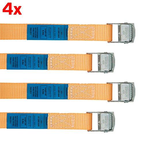RACEFOXX Spanngurt, 40 cm Länge, 4 Stück, Zurrgurt, Transportsicherung, Gurt für Motorrad, Motorradsicherung, Transport, Ladungssicherung