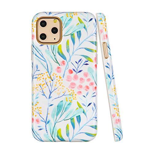 SunshineCases【Kompatibel: Apple iPhone 11 Pro】 schlanke, volle Hülle, süße Schutzhülle für Frauen und Mädchen, Watercolor Spring Wild Flower