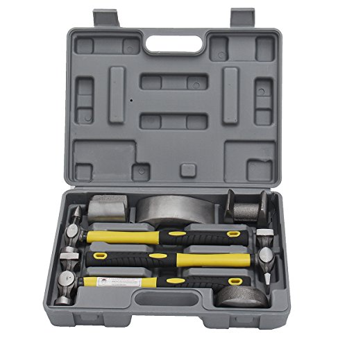 GOZAR 7 Stücke Auto Car Repair Kit Auto Body Repair Tool Kit Dolly Werkzeug Dent Reparatur Set Kit