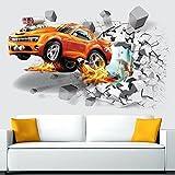 ALLDOLWEGE der 3D-Effekt der Wall Sticker Fußball Wand Aufkleber Hintergrund Dekorative Wand Aufkleber Kinder Wand Aufkleber Auto Aufkleber Creative 50 * 70 cm