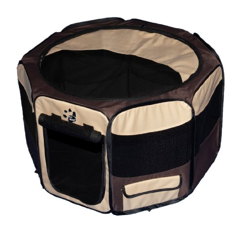 Pet Gear Travel Lite Octagon mascota pluma con parte superior extraíble...