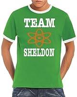 Touchlines Herren T-Shirt The Big Bang Theory Team Sheldon Ringer Kontrast