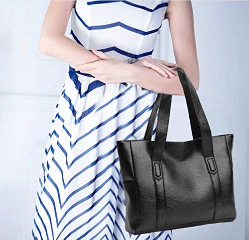 MYLL Borse Da Donna Alla Moda Borse A Tracolla Di Grandi Dimensioni,Black1 Black1