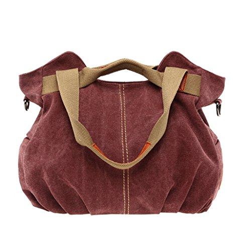Supa Moden donna tela borsetta borsa a tracolla Hobo borse borsa a tracolla, donna, Dark Blue Purple