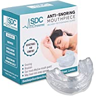 Anti-Snoring Mouthpiece – Bruxism/Teeth Grinding Guard – Adjustable – Includes Hypoallergenic Sterilisation Box and Top 10 Tips for a Better Sleep by Sleep Disorders Clinic Harley Street