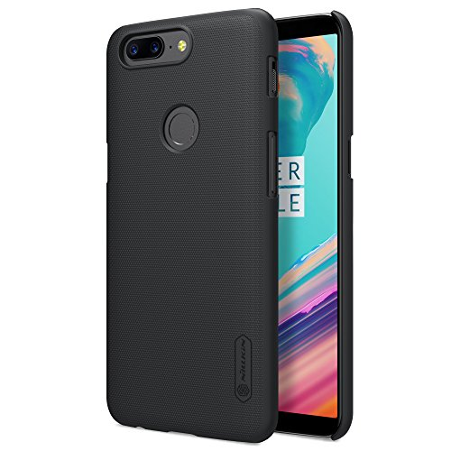 OnePlus 5T Hülle, Nillkin Frosted Shield Serie [Mit Displayschutzfolie] Ultra Slim PC Material Schutzhülle Stoßfest Handyhülle Rückseite Hard Case Back Cover für OnePlus 5T (Schwarz)