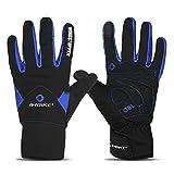 INBIKE Handschuhe Herren Damen Winter Outdoor Beheizbar Winterhandschuhe Warm Wasserdicht für Skifahren Snowboard Motorradfahren Radfahren und Wandern(Blau XL)
