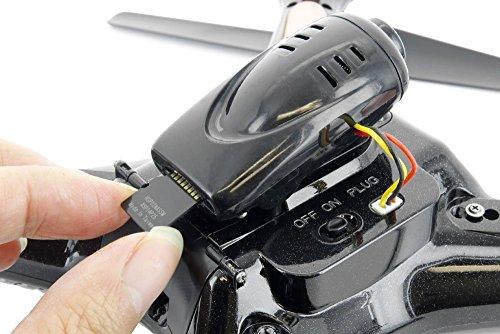 s-idee 01508 Quadrocopter X5SC Explorer Forscher Syma HD Kamera mit Tonaufzeichnung mit Motor-STOPP-Funktion & Akku-Warner, 360° Flip Funktion, Nachfolger vom Syma X5C, 2.4 GHz, 4-Kanal, 6-AXIS Stabilization System -