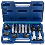 13-teiliges Set f/ür Lichtmaschine Riemenscheibe Freilauf Sockel mit Werkzeugtasche f/ür Garage Lichtmaschinen-Werkzeug