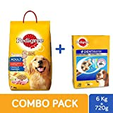 #6: Pedigree Adult Dry Dog Food, Chicken & Vegetable, 6 kg + Dentastix Oral Care Monthly Pack, 720 g (28 stix)