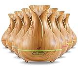 Aroma Diffuser 400ml Likemylux Luftbefeuchter Ultraschall Duftzerstäuber für Öl Aromatherapie in Holzmaserung mit 7 Led Farben inklusive Zeit Timer mit automatischer Abschaltfunktion | 2 Jahre Garantie | Holzoptik Hell