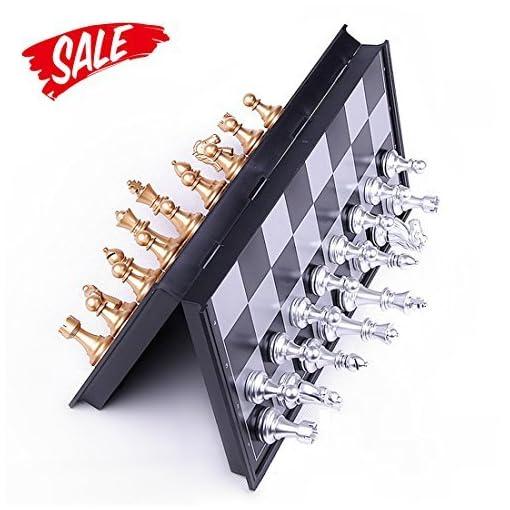 Schach-Hoshin-Tragbares-Classic-Faltbares-Reise-Magnetisches-schachspiele-mit-Aluminiumbeschichtung-25-x-25-x-2-cm