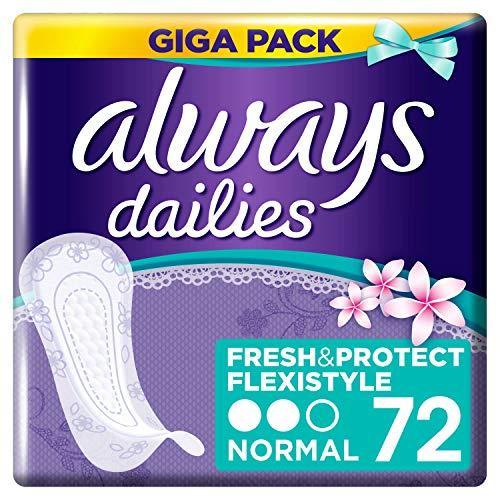 Always Dailies Fresh&Protect Flexistyle Slipeinlagen Normal Fresh, 1er pack (1 x 72)