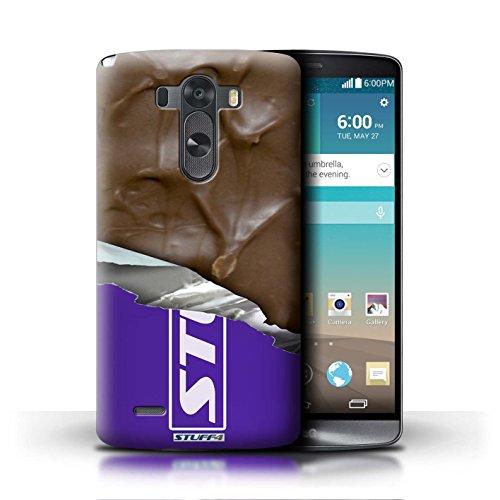 Kobalt® Imprimé Etui / Coque pour LG G3/D850/D855 / Doigts/Sticks conception / Série Chocolat Mars Bar Enveloppé