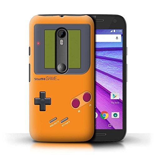 Stuff4® Hülle/Case für Motorola Moto G (2015) / Orange Muster/Videogamer/Gameboy Kollektion - Gameboy Case Moto G Motorola