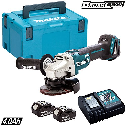 Makita DGA454Z 18v 115mm Brushless Angle Grinder With 2 x