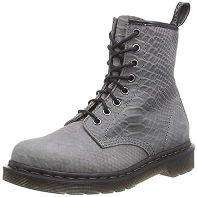 Dr. Martens 1460 Python Suede, Chaussures Bateau Femmes - Gris - Gris, Taille 43 EU