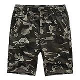 NEEKY Men Shorts Camouflage Männer Casual Pure Color Freien Tasche Strand Arbeitshose Cargo Shorts Hosen Herren Bade Shorts All Day(XL,Hellgrün)