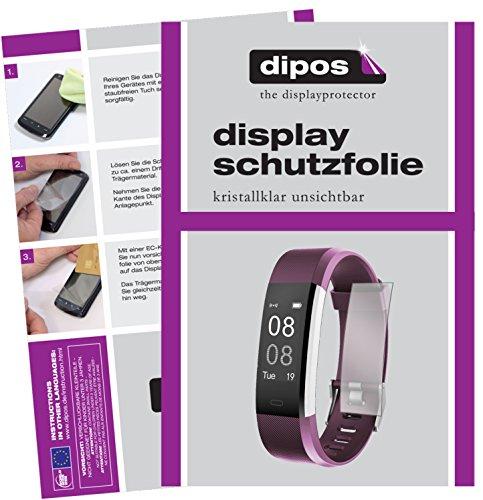 dipos I 6X Schutzfolie klar passend für Yamay Fitness Armband SW333 Folie Displayschutzfolie