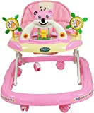Goyal's Baby Musical Walker - Foldable & Height Adjustable - Pink