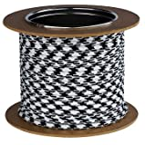 Textilkabel Stromkabel Stoffkabel Lampen-Kabel 2-adrig Pendelleitung (Schwarz-Weiß 03)