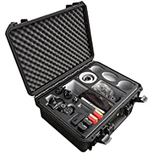 Custodia da trasporto professionale per Panasonic Lumix GH5 - con ampio spazio per accessori come 3 obiettivi, 5 batterie, vari cavi e adattatori e molto altro – MC-CASES