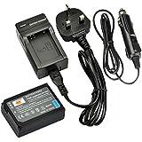 DSTE® BP-1030 Rechargeable Li-ion Battery + DC124U Travel and Car Charger Adapter for Samsung NX200 NX210 NX300 NX300M NX500 NX1000 NX1100 NX2000 Digital Camera as BP1030 BP1130 ED-BP1030