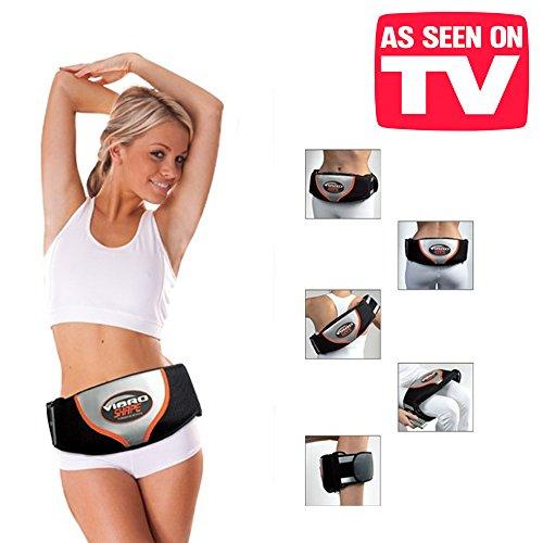 Vibro Shape–Massagegürtel mit Wärmefunktion, Massage- und Vibrationswirkung, Einsatzbereiche: Hüft-, Rücken- und Bauchbereich sowie am Gesäß, den Beinen oder Armen