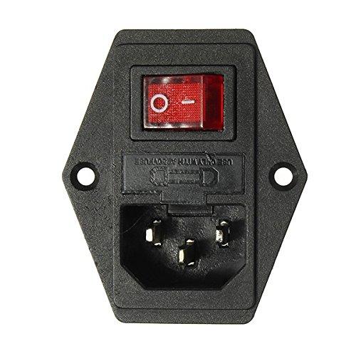 MYAMIA 3Pcs 220V/110V 5A Steckdose mit Schalter und 6A Sicherung Für 3D-Drucker -