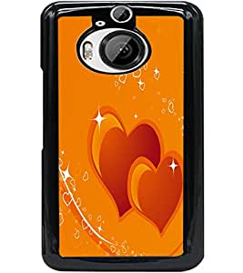 ColourCraft Loving Hearts Design Back Case Cover for HTC ONE M9 PLUS