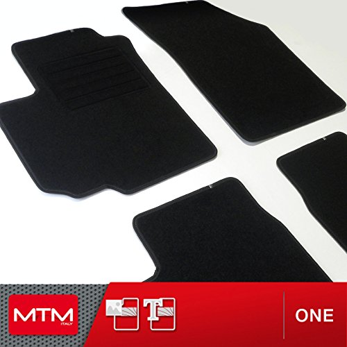 MTM Tappetini Swift dal 03.2005-08.2010 su Misura come Originali in Velluto, Battitacco in Moquette, Bordo Antiscivolo, cod. One 3444
