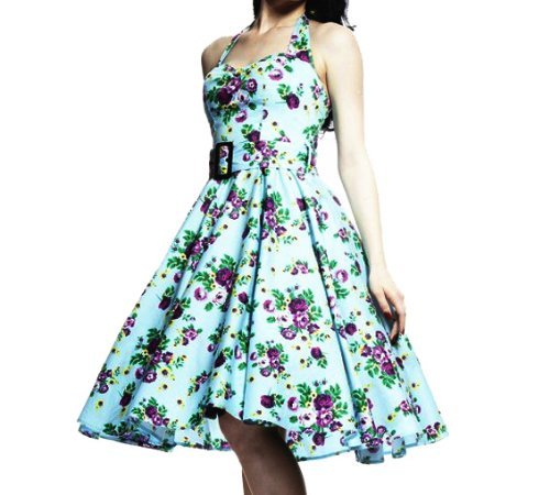 Hell Bunny Kitsch 50s DRESS MAY DAY Rockabilly Vintage Floral