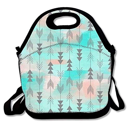 755c9be9d977 Arrow Bohemia Style Lunch Bag Tote Soft Lunch Box Reusable Insulated  Handbag for Women,Girls,Kids
