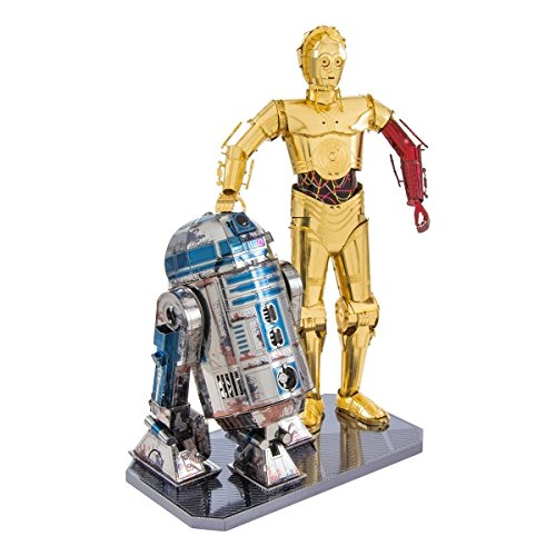 Metal Earth Fascinations Star Wars R2-D2 & C -3PO Gift Box 3D Metall Puzzle, Konstruktionsspielzeug, Lasergeschnittenes Modell