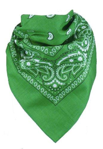 Grüne (Harrys-Collection Bandana Bindetuch 100% Baumwolle 1 er 6 er oder 12 er Pack!, Farbe:grün)
