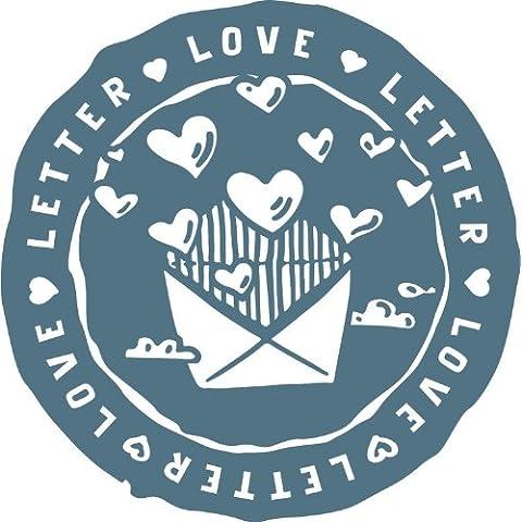 Love Letter Heart Envelope Blue Art Stamp Alta Calidad De Coche De Parachoques Etiqueta Engomada 12 x 12 cm