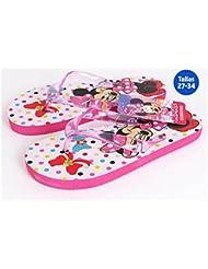Sandales de plage Minnie Mouse rose/blanc–Taille E2–Taille E2