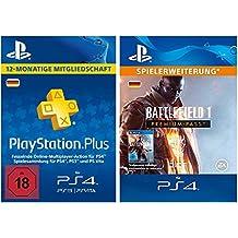 PS Plus Mitgliedschaft 12 Monate + Battlefield 1: Premium Pass - Season Pass DLC [PS4 Download Code - deutsches Konto]
