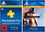PS Plus Mitgliedschaft 12 Monate + Battlefield 1: Premium Pass - Season Pass DLC [PS4 Download Code - deutsches Konto]