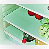 E-Retailer Plastic Fridge Mat Refrigerator Drawer Mat/Fridge Mat/Place Mat Set Of 3 Pcs (13 * 19 Inches) Multi Purpose Use(Green, Free)