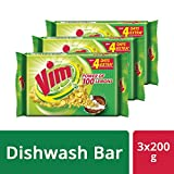 #1: Vim Dishwash Bar, 3x200 g