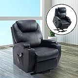 Luxe-fauteuil-canap-sofa-lectrique-releveur-avec-roulettes-tlcommande-PU-noir-neuf-20BK