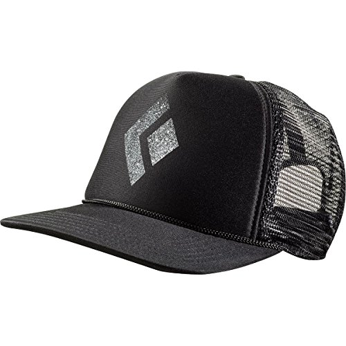 Black Diamond Flat Bill Trucker Hat - black-white