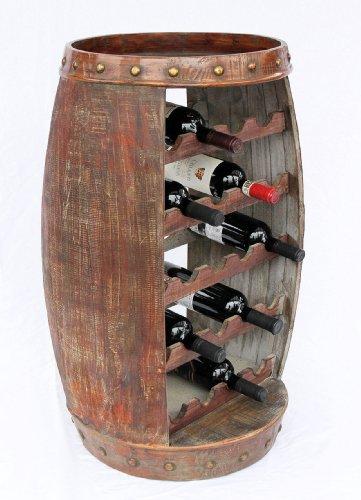 Weinregal Weinfass 0370-R Fass aus Holz - 7